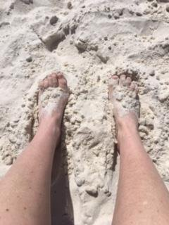 sand between my toes