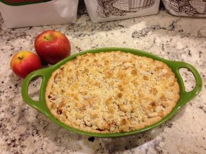 Homemade apple pie Amy Claire made with a client