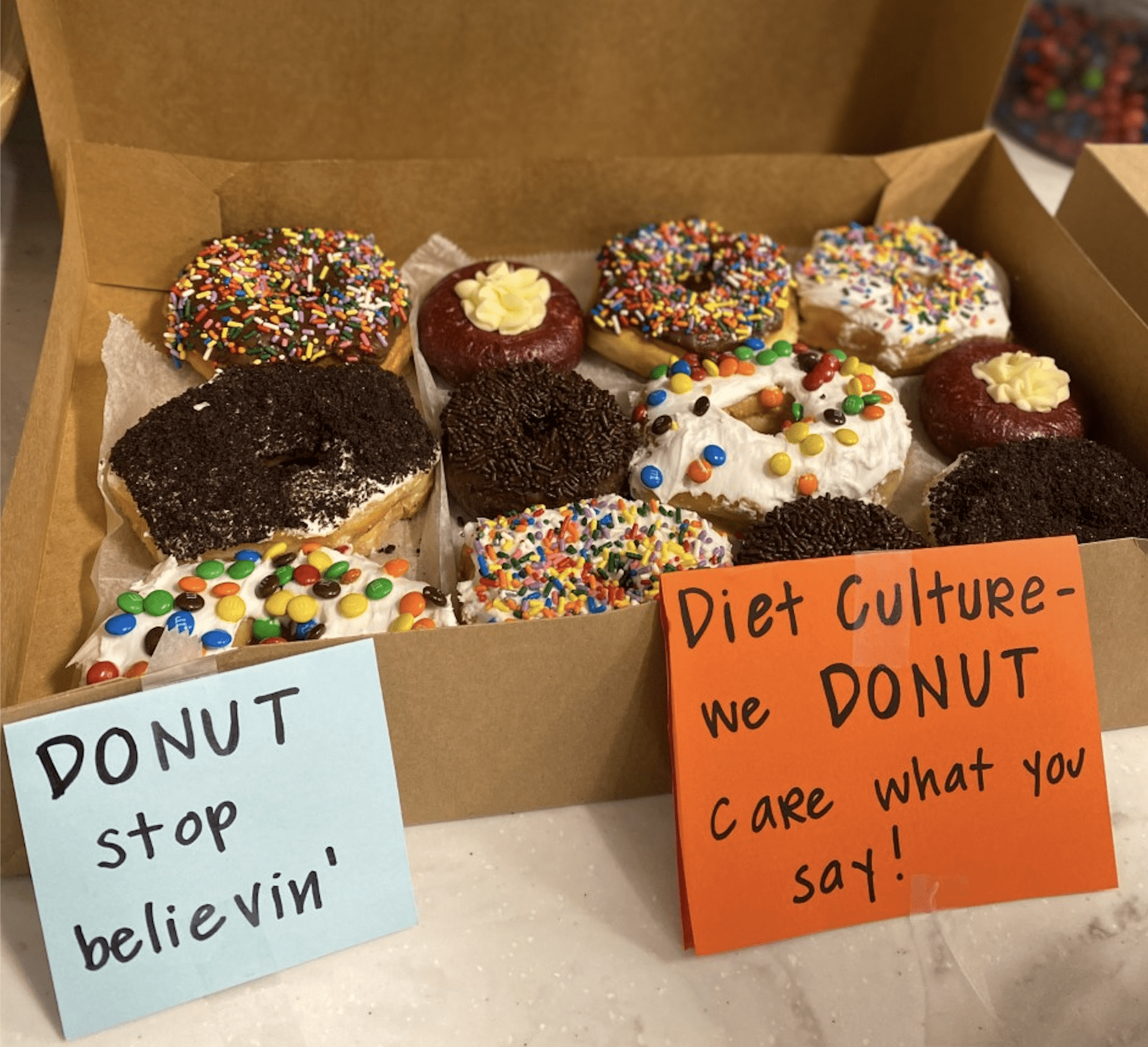 Punny Donuts about diet culture