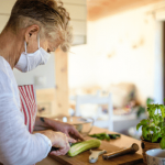 woman prepping produce